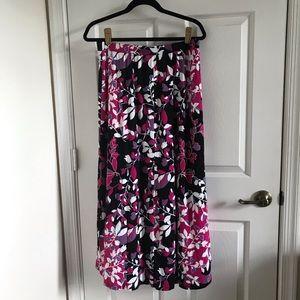 Lane Bryant Floral Slitted Maxi Skirt